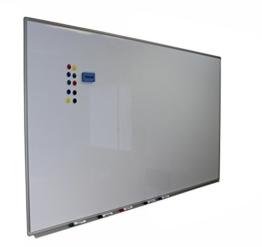 Dynamic-Wave Whiteboard 120cm x 90cm mit Alurahmen, magnetisch, trocken und nass abwischbar 120 90 inkl 5 Stifte 1 Schwamm und 10 Magnete - 1