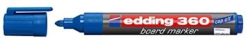 edding Whiteboardmarker edding 360, nachfüllbar, 1,5 - 3mm, blau - 1