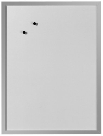 Herlitz 10524627 Whiteboard und Magnettafel (silbernen Holzrahmen, 40 x 60cm) weiß - 1