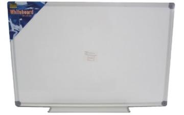 Idena 568019 - Whiteboard Alu-Rahmen, ca. 40 x 60 cm, mit Stiftablage - 2
