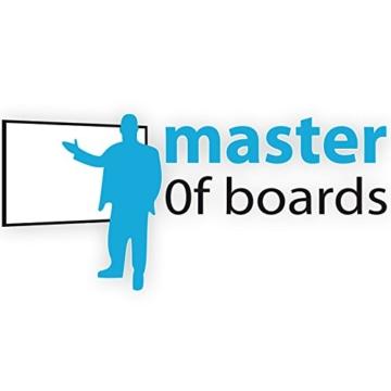 MOB Whiteboard Economy | schutzlackiert & magnethaftend - im stabilen Alurahmen - 90x120cm - 5