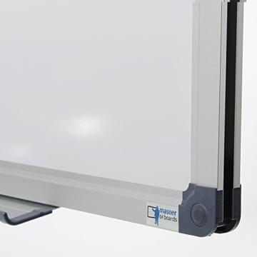 MOB Whiteboard Economy | schutzlackiert & magnethaftend - im stabilen Alurahmen - 60x90cm - 3