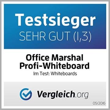Office Marshal® Profi - Whiteboard mit schutzlackierter Oberfläche | magnethaftend | 7 Größen | 60x90cm - 4