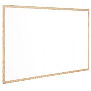 Q-Connect KF03572 Whiteboard mit Holzrahmen, 900 x 1200 mm - 1