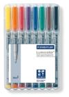 Staedtler 316 WP8 Lumocolor Universalstift F-Spitze, circa 0.6 mm, non-permanent, 8 Stück in aufstellbarer Staedtler Box - 1