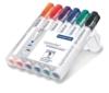 Staedtler 351 WP6 Lumocolor Whiteboardmarker, 6 Stück in aufstellbarer Staedtler Box, farblich sortiert - 1