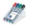 Staedtler 356 WP4 Lumocolor flipchart marker, 4 Stück in aufstellbarer Staedtler Box, farblich sortiert - 1