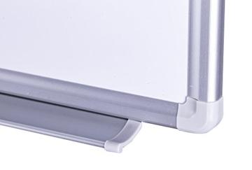 Whiteboard Magnettafel mit Alurahmen und durchgehender Stiftablage, in 6 Größen, schutzlackiert magnethaftend, mit Montagematerial und gratis Zubehör (Stifte,Schwämme,Magnete), Größe:90x60 cm - 3