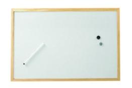 Whiteboard mit Holzrahmen, 40×60 cm - 1