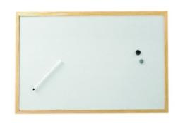 Whiteboard mit Holzrahmen 90 x 60 cm, 10 Stück - 1