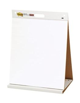 Post-it 563R Super Sticky Meeting Chart, 1 Block 20 Blatt mit Aufsteller, zu 30% aus Altpapier, 50,8 x 58,4 cm, weiß -