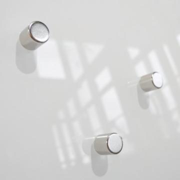 Glas Magnetboard MAX 80x50 cm weiß inkl. 5 Magnete, Glasmagnettafel / Magnettafel / Magnetwand / Memoboard -