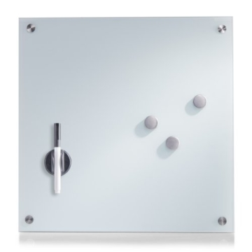 Zeller 11600 Memobord, Glas / 40 x 40, weiß -