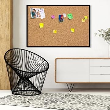 90x60 cm XL Format! KORK-PINNWAND Bilder mit Echt-Holz-Rahmen! 90x60 cm - KORK Tafel im Holzrahmen! Aufhängfertig! Wandbilder, wasser- und wischfest!t Schwarz – CF1A0003a1M - 2