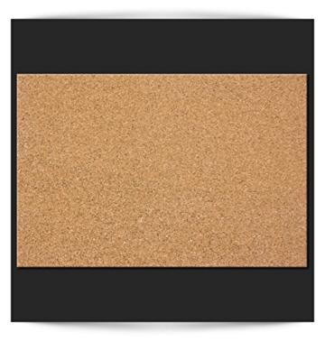 90x60 cm XL Format! KORK-PINNWAND Bilder mit Echt-Holz-Rahmen! 90x60 cm - KORK Tafel im Holzrahmen! Aufhängfertig! Wandbilder, wasser- und wischfest!t Schwarz – CF1A0003a1M - 4