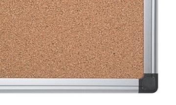 Bi-Office Korktafel Maya, Mit Aluminiumrahmen, Hochwertige Naturkorkoberfläche, Pinnwand, 120 x 90 cm - 3