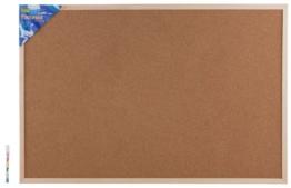 Idena Pinnwand mit Holzrahmen 60 x 90 cm - inkl. 5 Pinwandnadeln und 2 Schrauben, 568023 - 1