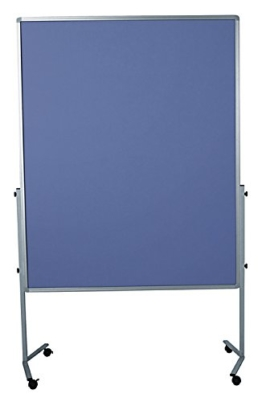 Legamaster 7-204200 Moderationswand Premium mobil 120 x 150 cm, filzbespannt, blaugrau - 1