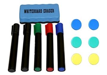 Mobile Whiteboard Tafel beidseitig beschriftbar,in 2 Größen, schutzlackiert, magnethaftend, mit gratis Zubehör (Stifte,Schwämme,Magnete), Größe:180x100 cm - 2