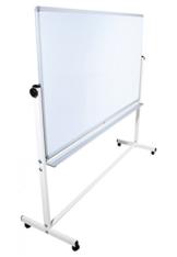 Mobile Whiteboard Tafel beidseitig beschriftbar,in 2 Größen, schutzlackiert, magnethaftend, mit gratis Zubehör (Stifte,Schwämme,Magnete), Größe:180x100 cm - 1