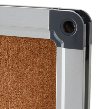 Office Marshal® Profi - Pinnwand mit hochwertiger Kork - Oberfläche | im stabilen Aluminiumrahmen | 4 Größen | 60x90cm - 2