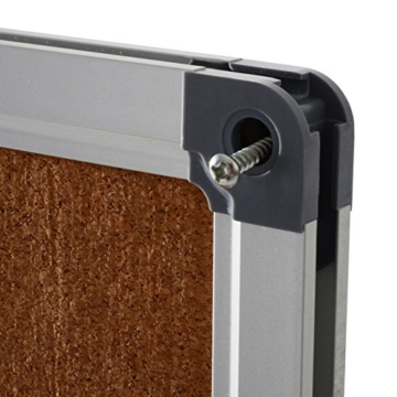 Office Marshal® Profi - Pinnwand mit hochwertiger Kork - Oberfläche | im stabilen Aluminiumrahmen | 4 Größen | 60x90cm - 3