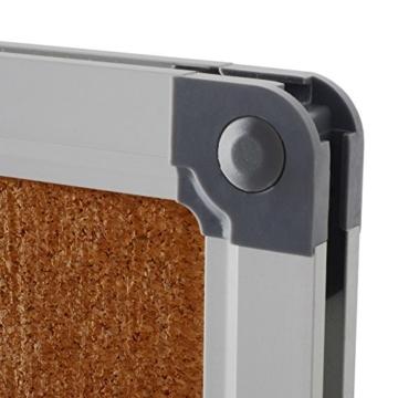 Office Marshal® Profi - Pinnwand mit hochwertiger Kork - Oberfläche | im stabilen Aluminiumrahmen | 4 Größen | 60x90cm - 4