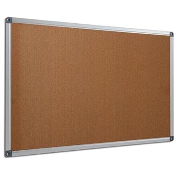 Profi Pinnwand für Büro, Schule, Küche etc. | Memoboard in vielen Größen | moderner Aluminiumrahmen | Oberfläche wählbar | Kork 90x60 cm - 2