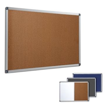 Profi Pinnwand für Büro, Schule, Küche etc. | Memoboard in vielen Größen | moderner Aluminiumrahmen | Oberfläche wählbar | Kork 90x60 cm - 1