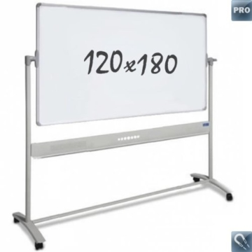 "Whiteboards ""Pro""– mobil – Emaille – doppelseitig – magnetisch – 120x180cm - 1"