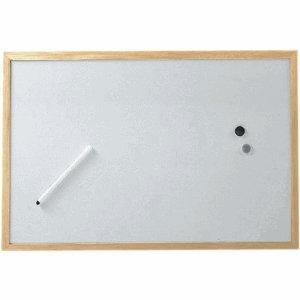 10 x Maul Whiteboard mit Holzrahmen 60x90cm - 1