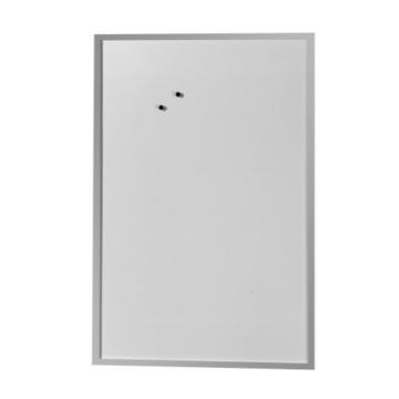 Herlitz 10524635 Whiteboard 60 x 80cm und Magnettafel Schreibtafel weiß mit Holzrahmen silber mit Holzrahmen silber - 1