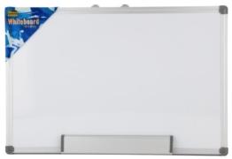 Idena 568019 - Whiteboard Alu-Rahmen, ca. 40 x 60 cm, mit Stiftablage - 1