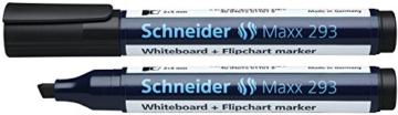 Schneider 293 Board-/Flipchartmarker (nachfüllbar, 2 - 5 mm) 4er Etui schwarz/rot/blau/grün - 2