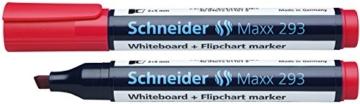 Schneider 293 Board-/Flipchartmarker (nachfüllbar, 2 - 5 mm) 4er Etui schwarz/rot/blau/grün - 3