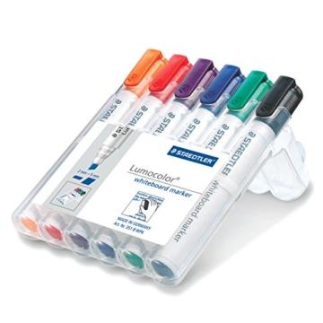 Staedtler 351 B WP6 Board-Marker Lumocolor whiteboard marker, Staedtler Box mit 6 Farben - 2
