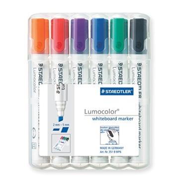 Staedtler 351 B WP6 Board-Marker Lumocolor whiteboard marker, Staedtler Box mit 6 Farben - 1