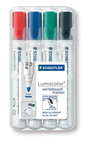 Staedtler 351 WP6 Lumocolor Whiteboardmarker, 6 Stück in aufstellbarer Staedtler Box, farblich sortiert - 2
