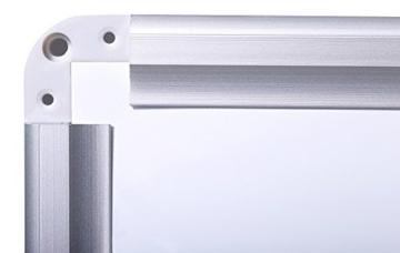 Whiteboard Magnettafel mit Alurahmen und durchgehender Stiftablage, in 6 Größen, schutzlackiert magnethaftend, mit Montagematerial und gratis Zubehör (Stifte,Schwämme,Magnete), Größe:120x90 cm - 4