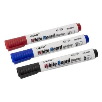 Whiteboard Zubehör Set : 5 Marker / Boardmarker Stifte bunt (4 Farben) + 1 Schwamm Löscher magnetisch für Schreibtafel Magnettafel | Grundausstattung - 4