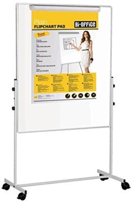 Bi-Office Mobiles Whiteboard Duo mit Zusätzlicher Pinnwand auf Der Rückseite -