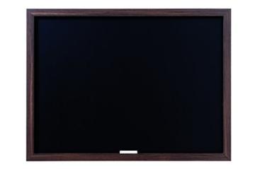 Bi-Silque PM04010819 - Optimum Kreidetafel, MDF Rahmen Schiefer, 64 x 45 cm großer, 22 mm dicker, walnussfarben -