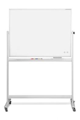 Dreams4Home Schreibtafel 'Granada', Whiteboard, Magnettafel, Memoboard, Memotafel, mobil, drehbar, 220 x 120 cm, weiß -