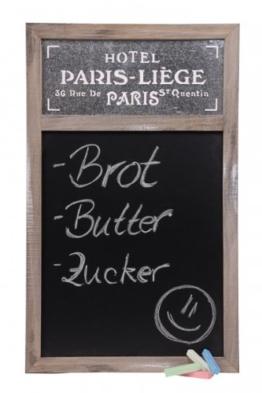 Nostalgische Holz-Kreide-Tafel PARIS - Schultafel - Kreidetafel - Memoboard - Wandtafel - Küchentafel - Notiztafel -