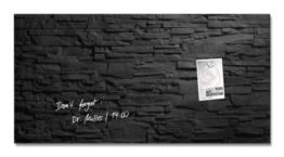 Sigel GL149 Glas-Magnetboard / Magnettafel artverum Schiefer-Stone, 91 x 46 cm - weitere Designs/Größen -