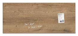 Sigel GL247 Glas-Magnetboard / Magnettafel artverum Natural-Wood, 130 x 55 cm - weitere Designs/Größen -