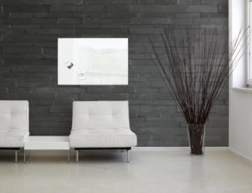 Sigel GL141 Glas-Magnetboard / Magnettafel artverum super-weiß 100 x 65 cm - weitere Größen/Farben -