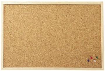 30x40 cm Pinnboard mit einem Holzrahmen, Korktafel, Korkpinnwand, Pinnwand, 30x40 cm - 2
