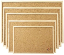 30x40 cm Pinnboard mit einem Holzrahmen, Korktafel, Korkpinnwand, Pinnwand, 30x40 cm - 1