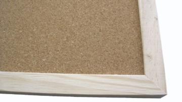 Idena Pinnwand mit Holzrahmen 60 x 90 cm - inkl. 5 Pinwandnadeln und 2 Schrauben, 568023 - 4
